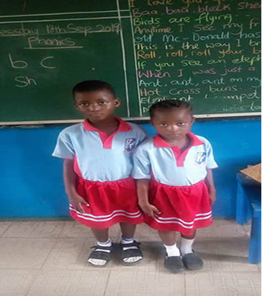 Kids School Project – Scholarship given by AbikeAde Foundation to Miss Elizabeth Okafor & Daramola.They are in their 4th year in Primary School.